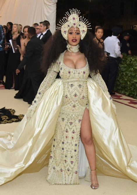 Cardi B is on our list for the best dressed at the Met Gala 2018