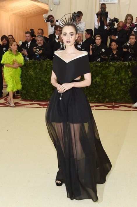 Lily Collins is on our list for the best dressed at the Met Gala 2018
