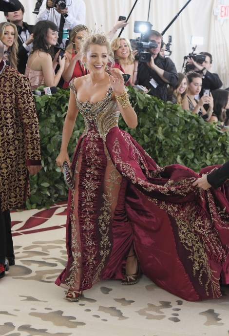 Blake Lively is on our list for the best dressed at the Met Gala 2018
